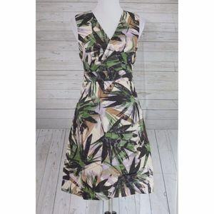 Banana Republic Palm Print Dress